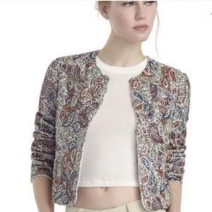Alice and Olivia Metallic Beaded Sequin Jacket